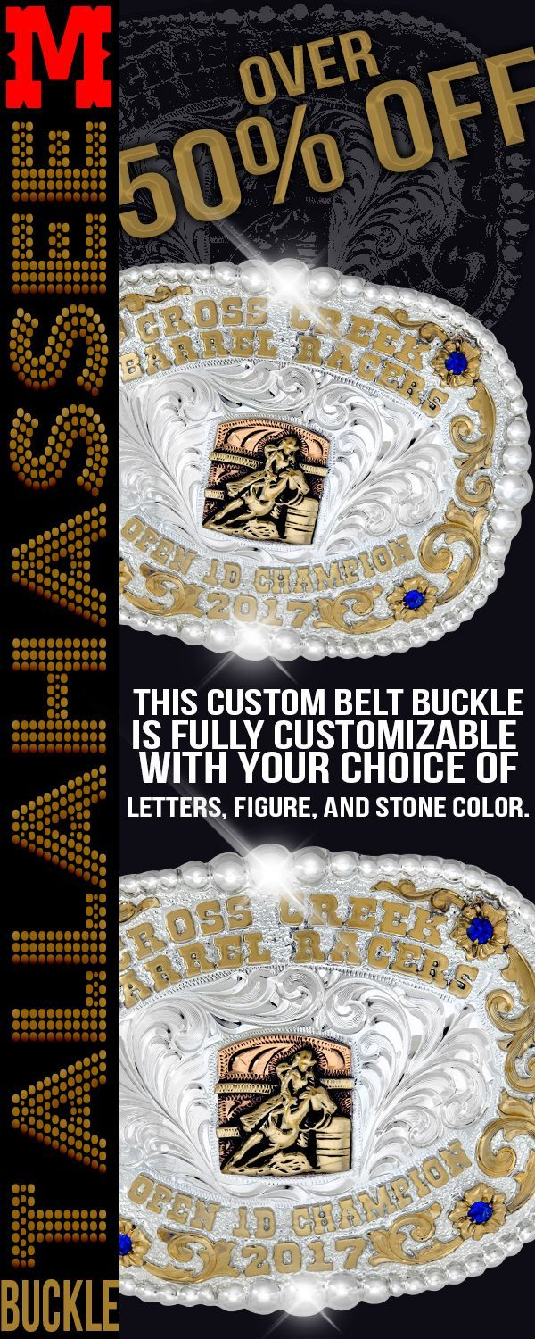 The Tallahassee Custom Belt Buckle is made from German Silver and plated with 99.9% pure Solid Silver.  It has a bead edge with Jewelers Bronze overlays and letters.  Get this Trophy Buckle for you next Awards Banquet.