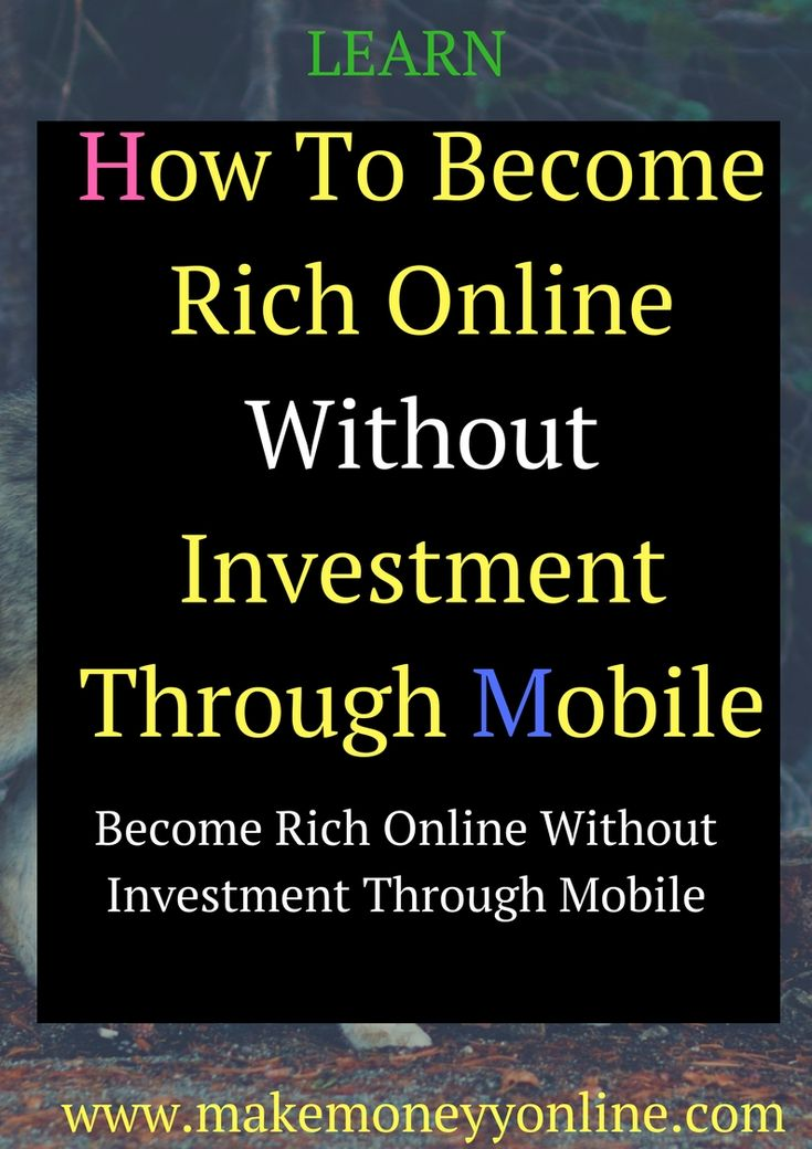 To Become Rich Online Without Investment Through Mobile.Today, a new madness is unleashed to make money quickly and easily with a mobile phone. I do not want to sell your mobile phone or accept mobile phones as a pledge.  I talk on the cell phone to make money by connecting buyers and sellers of commercial products. This new trend is referred to as mobile phone marketing, which essentially involves the use of mobile phones to promote products from reputable companies that pay a commission on…