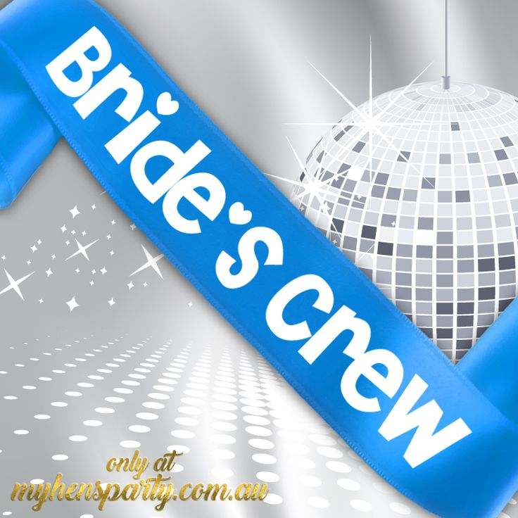 Bride's CrewPrintedSash Our stylishBride's Crew Printed Sashis the latest trend in wedding must haves! Made in-house at the My Hens Party Shop in Sydney we offer you...