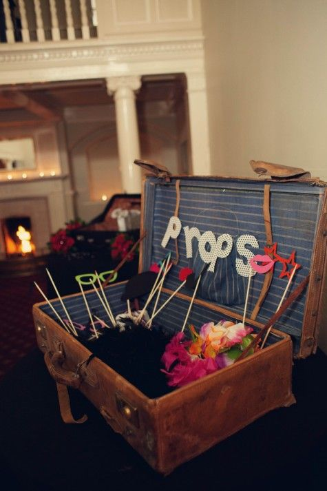 Wedding prop box @Courtney & Conrad Marais cute idea for guest photos!