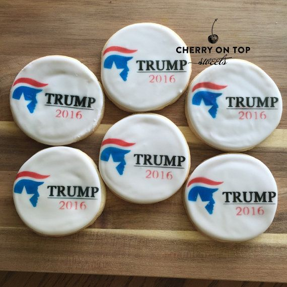 Trump 2016 cookie stencil by cherryontopsweets on Etsy