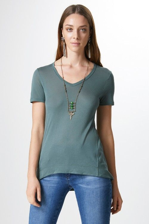 CAMISETA COLOR-AFRICAN GREEN - 2011344|1495 - Canal Concept