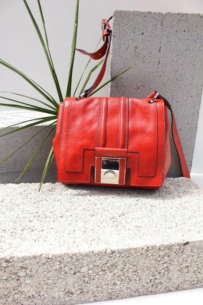 697162097b Karen Millen GM161 Red Leather Shoulder Satchel Cross Body Bag Sling Handbag  New #KarenMillen #Crossbody