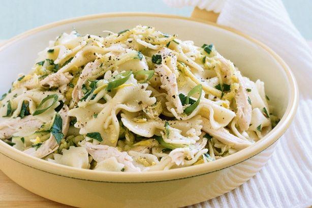 Lemon, zucchini and chicken pasta main image