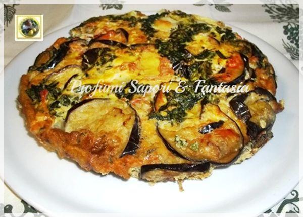 Tortino di melanzane al forno con spinaci e mozzarella Blog Profumi Sapori & Fantasia
