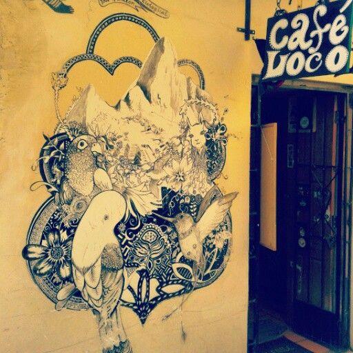 If you walk around san blas, you'll see this loco café.