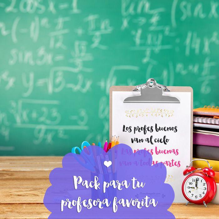 Pack de regalo para tu profesora personalizable