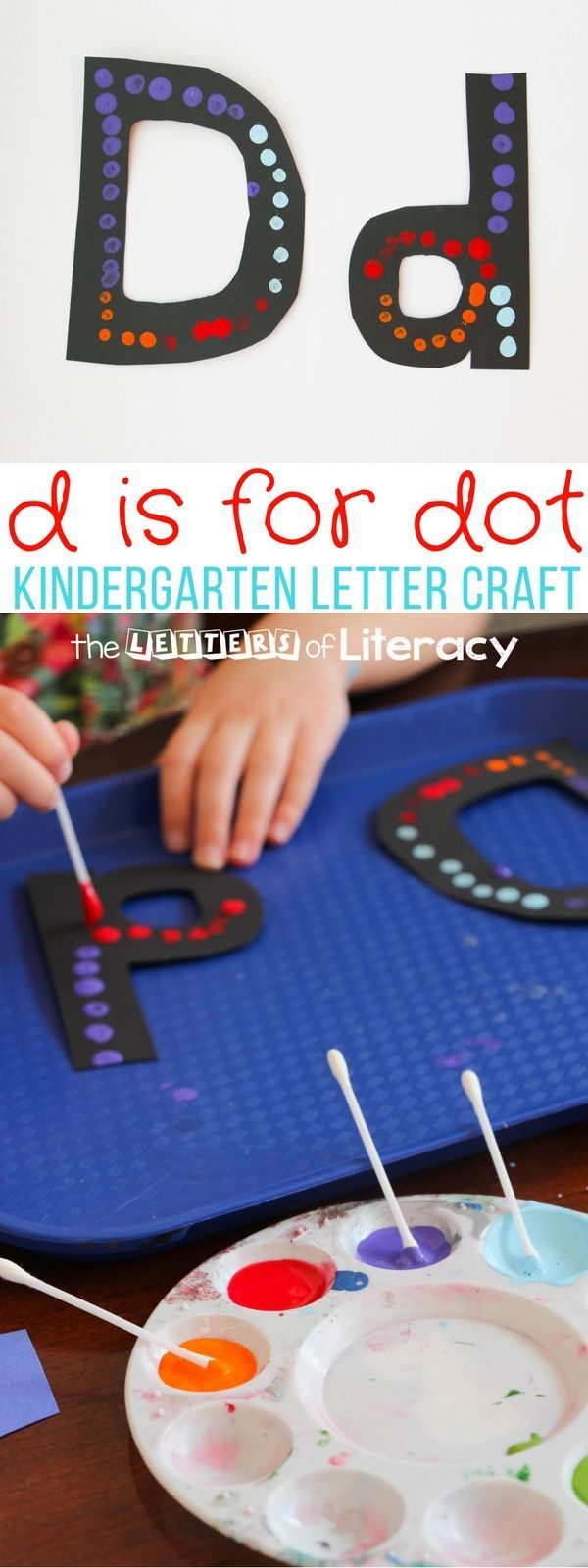 This D for Dot Painting is a letter D craft, great for teaching fine motor skills and is the next in a series about Kindergarten Letter Crafts!
