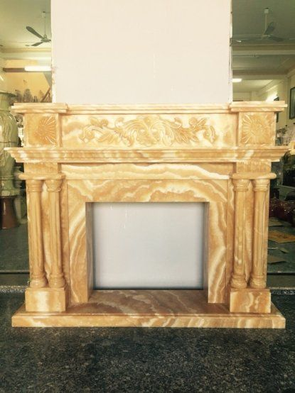 fireplace/mantel in yellow marble.  Pls contact danang.marble@gmail.com or danangmarble.com.vn for order or more information.