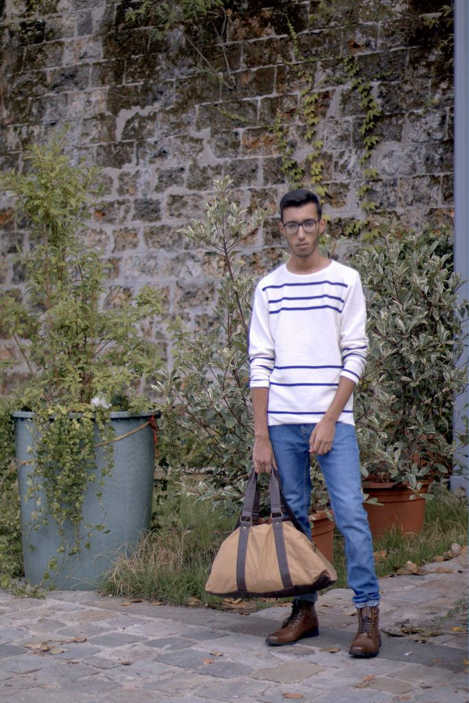 theparisianclaw.over-blog.com  Top : Pull&Bear Jeans : Zara Shoes : Primark Bag : Primark    #style #streetstyle #inspiration #bonnet #mode #menswear #menstyle #ootd #outfit #men #casual #Paris #summer #France #Seine #marinière