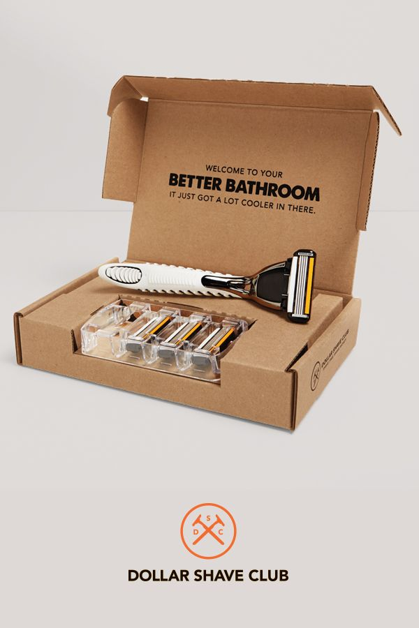 Time to toss your scummy old shower razor. Dollar Shave Club delivers amazing razors for just a few bucks. Try the Club.