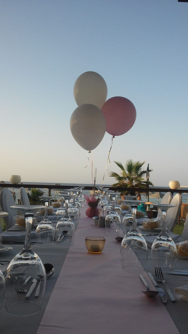 """Baptism Reception by the beach - """"Corali"""" sea side restaurant"""