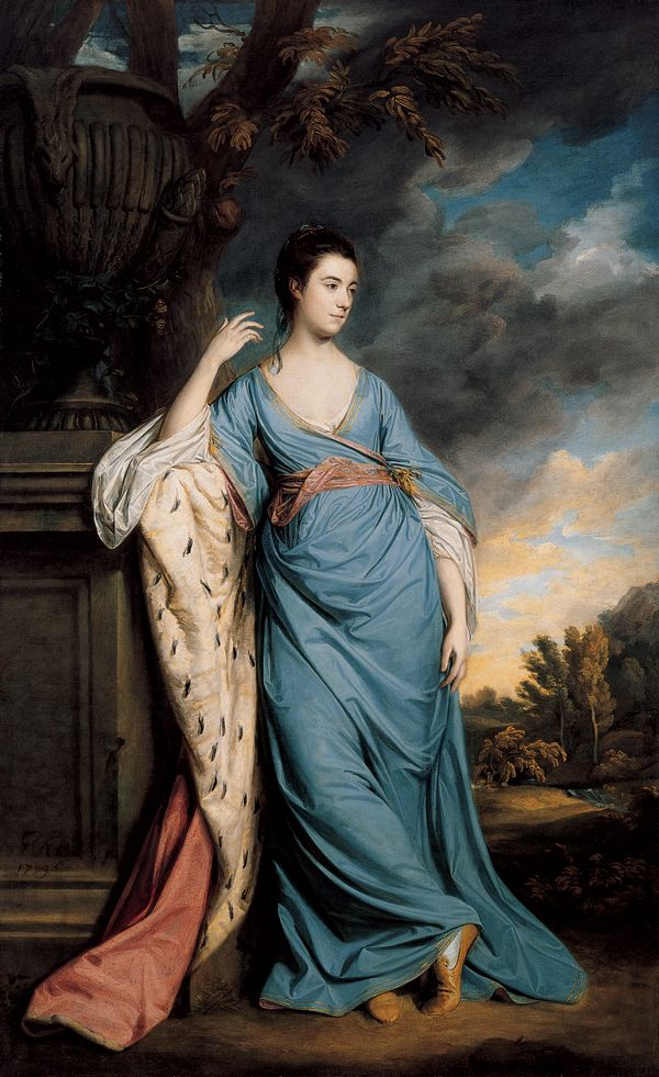 SIR JOSHUA REYNOLDS,PORTRAIT OF A WOMAN (POSSIBLY ELIZABETH WARREN), 1759