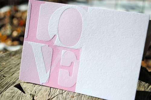 Paper Goods - Valentine's Day - Letterpress Love Notes