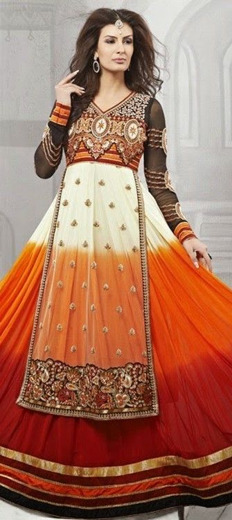 430703, Anarkali Suits, Georgette, Net, Machine Embroidery, Stone, Multicolor Color Family