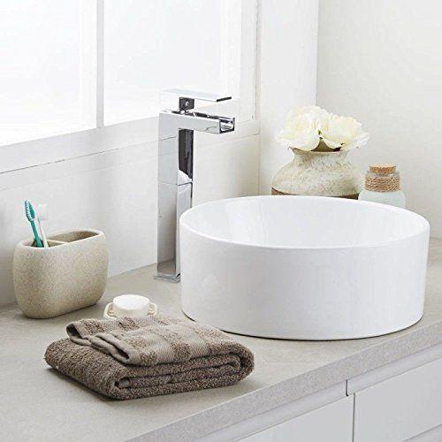 diseo elegante cuarto de bao encimera lavabo de cermica de madera