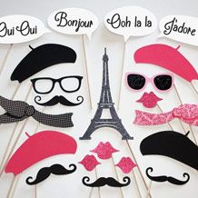 French Photo Booth Props {Free Printables} - Wedding Articles
