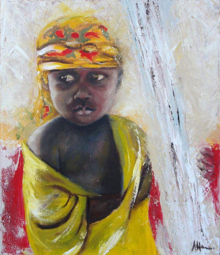 Hadimu boy  Oil on canvas  450 x 600 mm