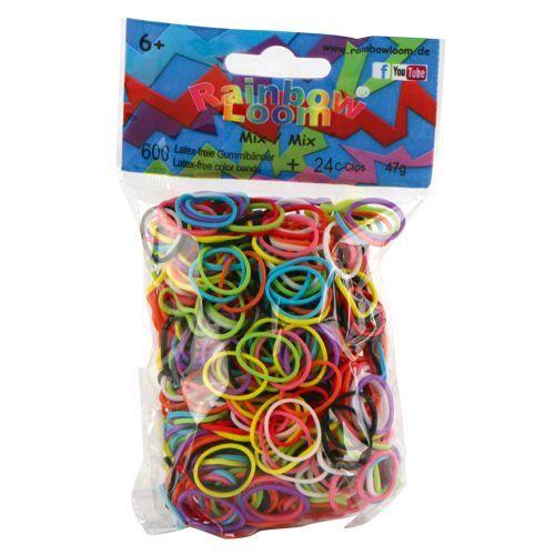 Rainbow Loom Mix heldere kleuren met 24 clipjes. Nieuwste rage, wees er snel bij! Maak met de clips en elastiekjes de mooiste armbandjes en accessoires. Dit zakje bevat maar liefst een mix van 600 heldere gekleurde elastiekjes en 24 clips.  http://www.planethappy.nl/rainbow-loom-mix-heldere-kleuren-met-24-cips.html
