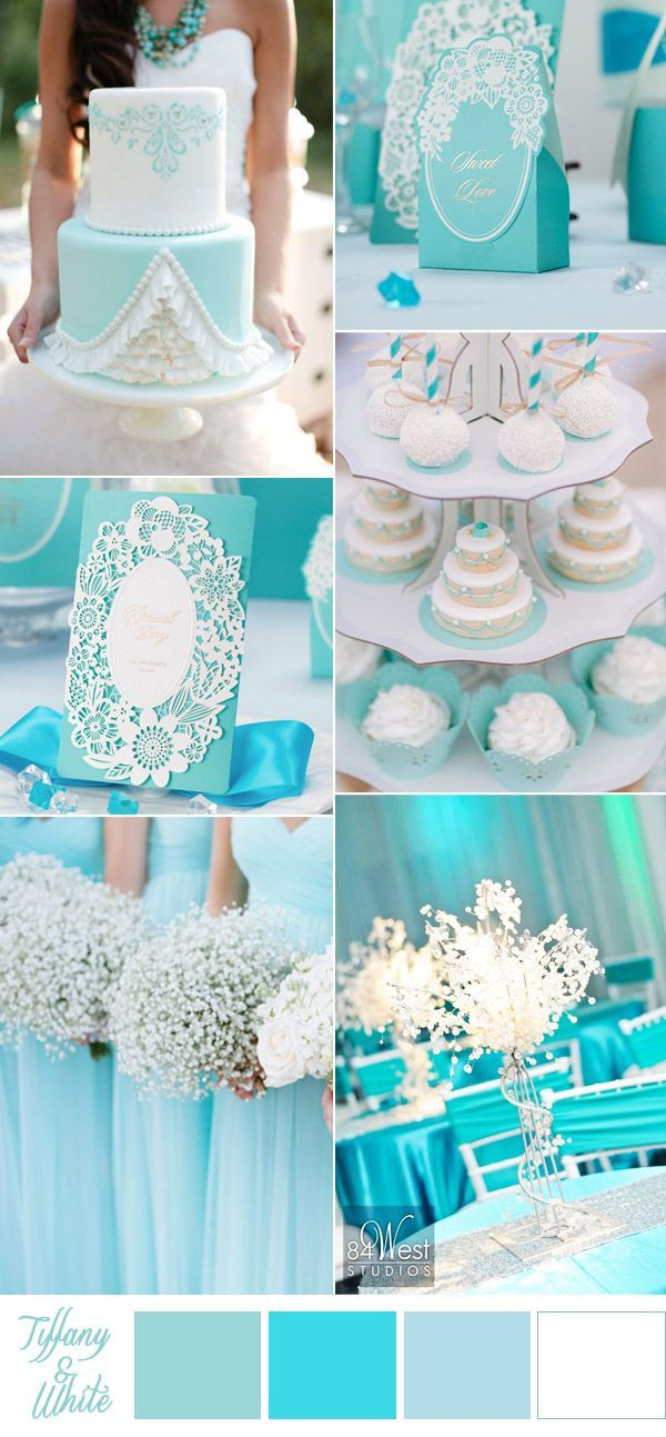 tiffany blue and white beach wedding color ideas