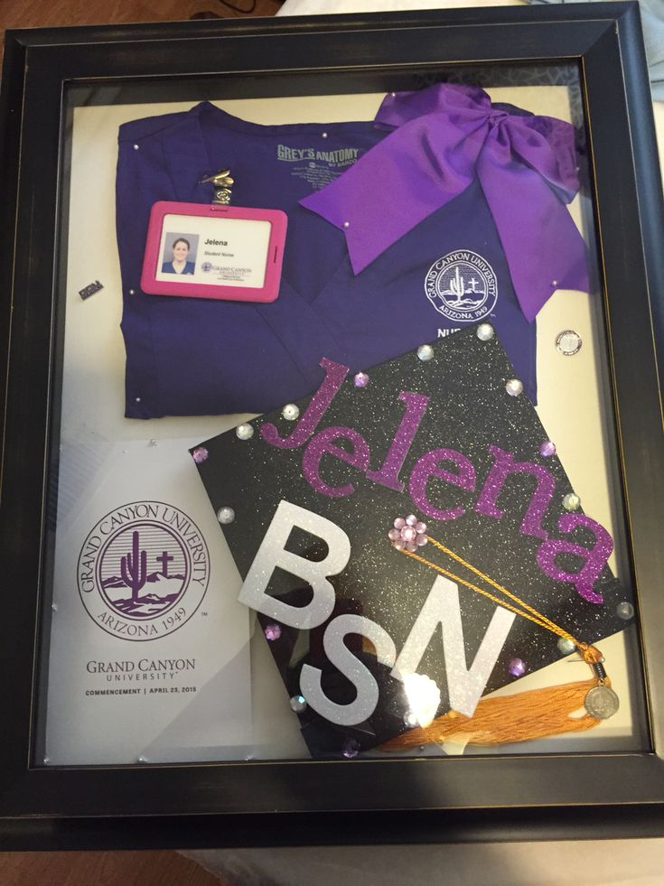 Nursing school shadow box! Not a home improvement, but it is DIY and will be displayed in my home, so...