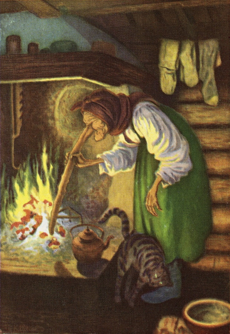 Kittelsen, The Old Woman by the Fire