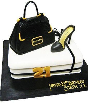 River Island Handbag And Shoe Cake 21st Birthday Cakes