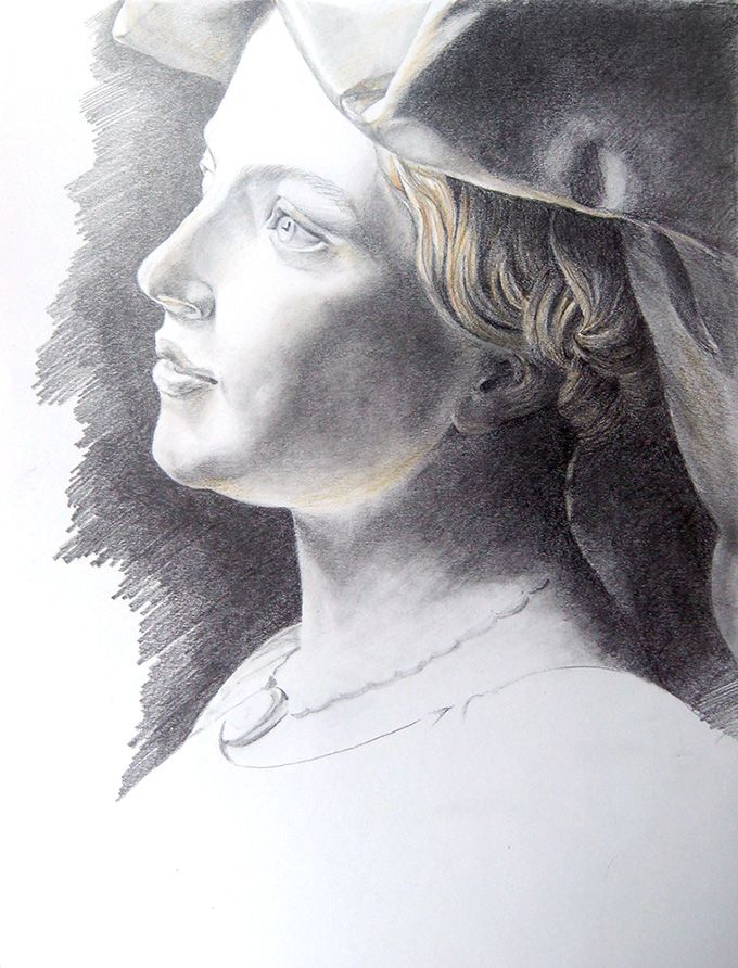 Drawing after a masterpiece (Cordier) - by Alina Drăguceanu