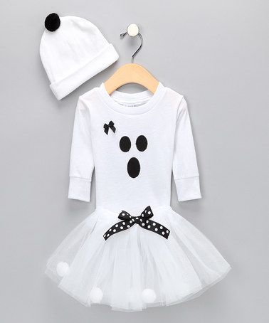 Cutie Pa Tutus White Ghost Costume - Infant, Toddler & Girls