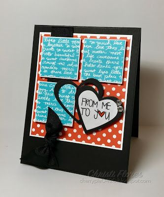 Handmade card by Christi Flores using the Love From Me digital set by Verve. #vervestamps