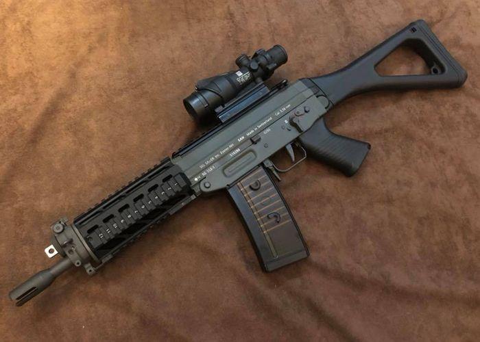 Papago Arms Ghk 553 Gbb Engraving Airsoft Badass Guns Airsoft Guns