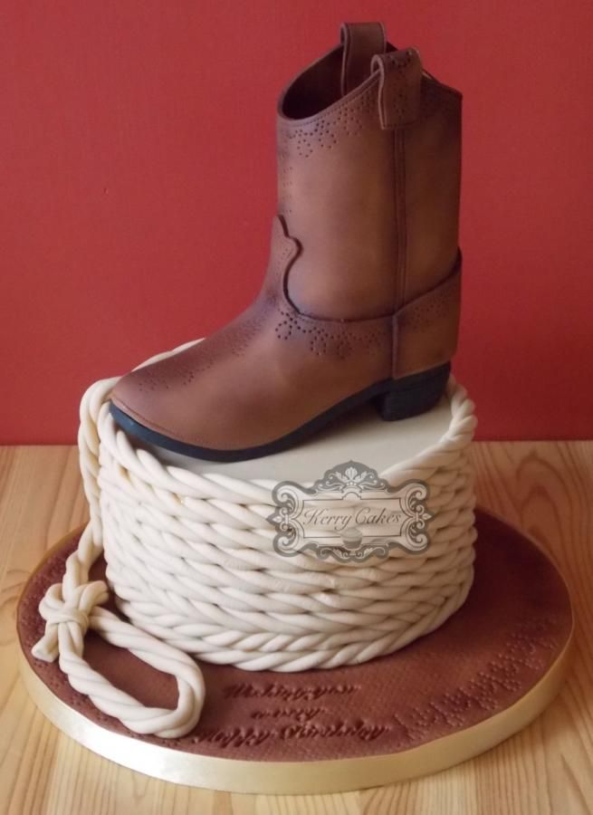 Cowboy boot - Cake by kerrycakesnewcastle