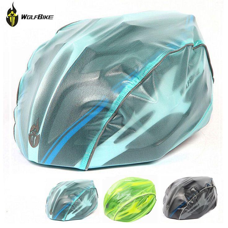 WOLFBIKE 3 Colors New Windproof Waterproof Dust-proof Rain Cover MTB Road Bike Helmet Cover Bicycle Cycling Helmets Covers