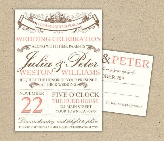 46 best janes wedding invite images on pinterest invitation ideas save the date custom printable template by bejoyfulpaper stopboris Images