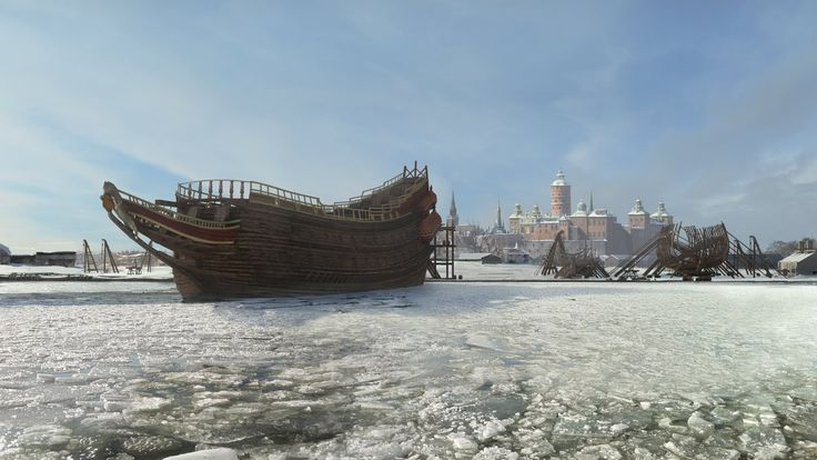 Vasa ship documentury - mattepainting