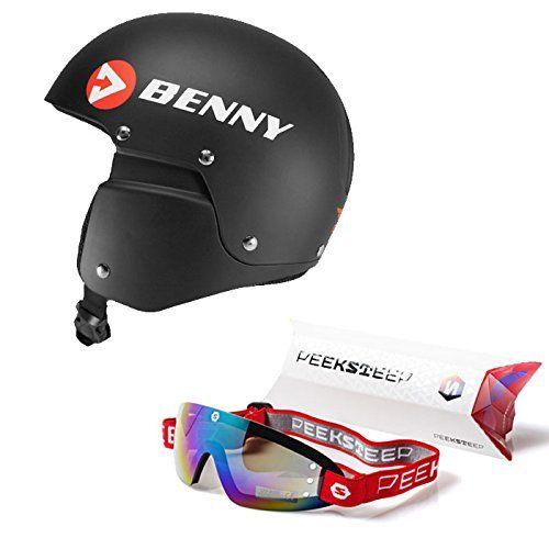 Package: Advanced Benny Skydiving Matte Black Helmet + Peeksteep Goggles (Choose Color) - http://scuba.megainfohouse.com/package-advanced-benny-skydiving-matte-black-helmet-peeksteep-goggles-choose-color/