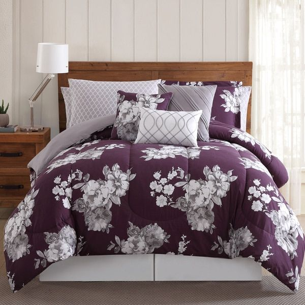 Peony Garden Floral 12 Piece Bed In A Bag Comforter Set