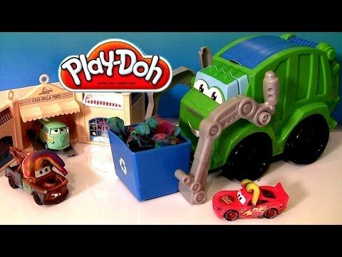 Play Doh Trash Tossin' Rowdy the Garbage Truck Tonka Chuck & Friends Lig...