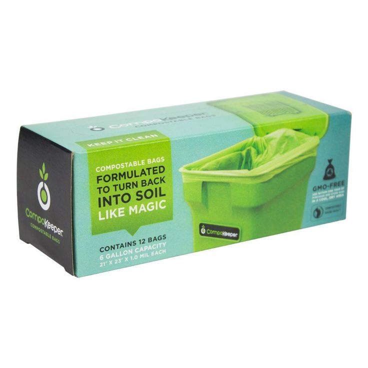 6 gal compostable bags 12count