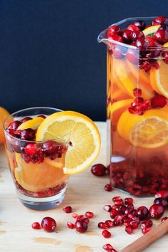 Christmas Sangria is incredibly easy. A stress free cocktail!