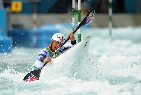 Richard Hounslow in the Kayak Slalom today