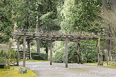 Latwerk bij de Japanse Tuin van Portland