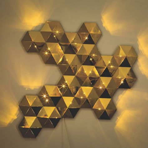 Tessellate Gold Metal LED Wall Art Is Designed By Aaron Probyn For The Habitat Design Reunion Project To Celebrate Our Birthday Buy Now At UK