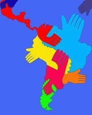 HERMANDAD LATINA    América es continente  y abarca muchos países  comunes en sus raíces  y el idioma de su gente.  Y yo teniendo presente  que el mundo es una vitrina  te digo: Latino empina  la conexión ancestral  y muestra a nivel mundial  la gran Hermandad Latina.
