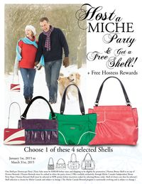 Be a Miche Hostess and receive a Free Shell with our Miche Hostess Rewards! *Miche Canada* #michecanada #michefashion #improveyourlife #letsparty #directsales #fashion #style #purses #handbags #accessories