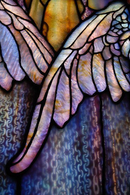 Tiffany Wings stained glass inside Arlington Street Church. ~via Nick Farago, Flickr