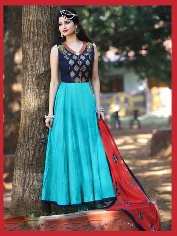 KESARIYA FASHION- Sky Blue Color Silk Salwar-1207-3959