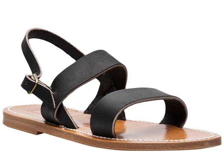 K Jacques Barigoule men's sandals in black Leather - Italian Boutique €147