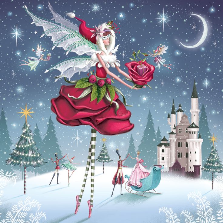 The Rose Fairy - Christmas Card Pack of 5