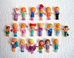 Original Polly Pockets | 20 Polly Pocket Vintage Original Dolls Figures People | eBay